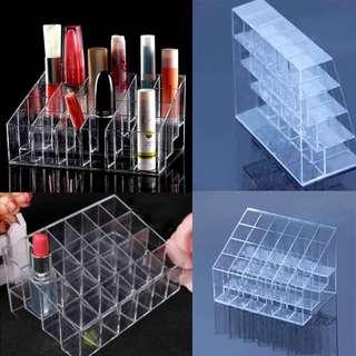 Tempat penyusun lipstik 24 kotak bentuk: untuk pajangan make up
