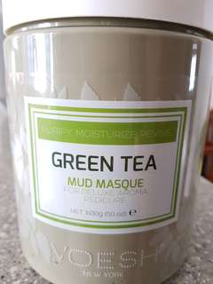 Voesh Green Tea mud foot mask for salon pedicure