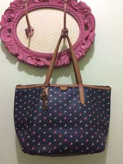 AUTHENTIC FOSSIL NAVY HEART