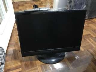 22吋BenQ 電視連電視架remote