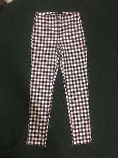 Zara XS checkered pants