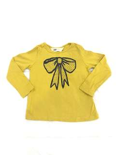 H&M Girl Long Sleeve Shirt 1-2Y