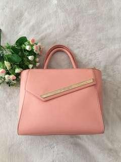 Charles n Keith Peach Handbag
