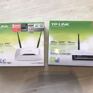 TP Link router and extender