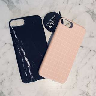 BNWT iPhone 6+ 7+ 8+ Slim Case Black Marble Pink White Cover