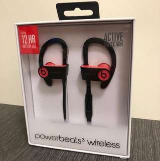全新 Powerbeats 3 wireless  earphone 有單有保養