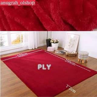 Karpet bulu polyfoam uk 200x120x2cm