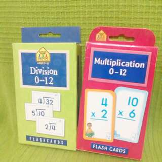 Flashcards Division and Multiplication 0-12