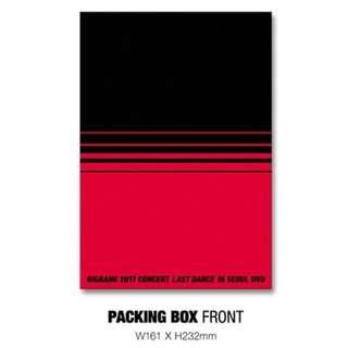 BIGBANG - 2017 CONCERT LAST DANCE IN SEOUL DVD