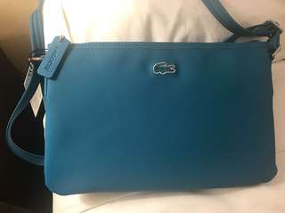 Authentic Lacoste Flat Crossover Bag
