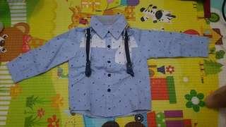 Blue Tshirt with Suspender