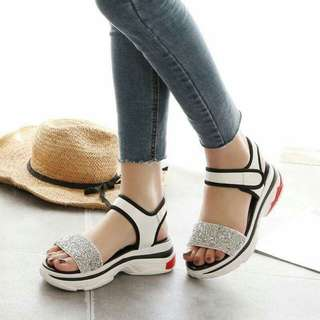 🍃Ladies Sequined Thick Rubber Sandals