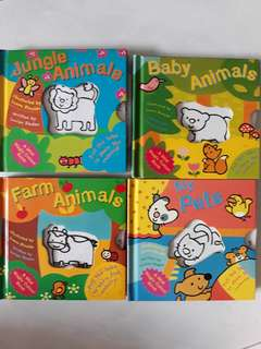 Children books animals pull tab show colour