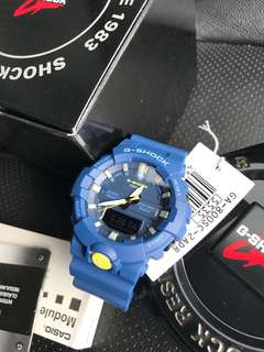 🚚 Brand New 100% Authentic Casio Gshock GA800 Series Blue Yellow LED Unisex Watch with FREE DELIVERY G-Shock GA800SC