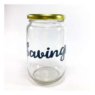Savings Jar (Black)