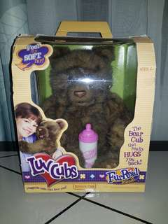 2004 FurReal Friends LuvCubs Brown Bear