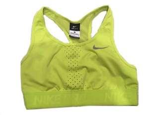 Yellow Nike Pro Sports Bra