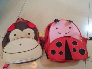 Tas skiphoop ladybug & monkey