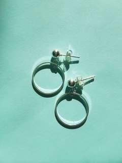 NEW Silver studded hoop earrings