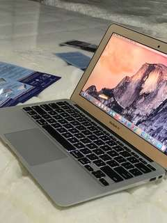 Macbook Air core i5 11inch mid 2013 4gb ram 128gb ssd good for office photoshop rendering video editing etc.