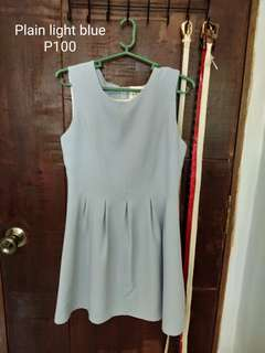 Plain light blue dress