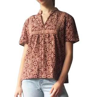 Brown Boho Shirt