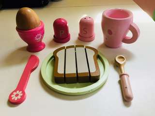 Now Only 300php (with FREE Shipping!!!) ELC Wooden Breakfast Toy Set