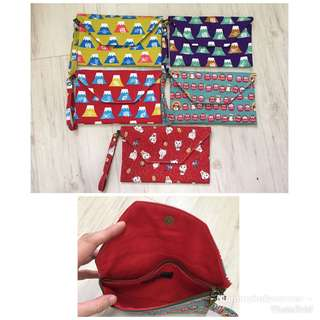 Cute Japanese style zipper pouches