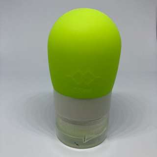 Green Squeezable Silicon Travel Shampoo / Bath Gel Bottle - 38ml