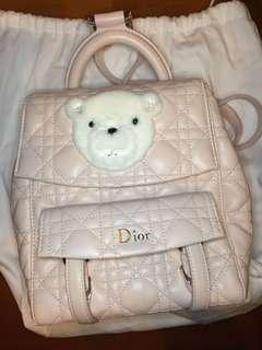 Dior 粉色小背囊羊皮9成新