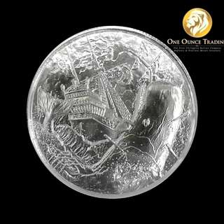 2 oz The White Whale Ultra High Relief Silver Round