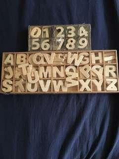 Wooden numbers & alphabet