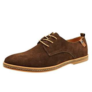 2018 Men's Casual Business Oxfords Shoes Classic Dress Formal Suede Leather Shoe