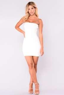 Fashion Nova White Mini Dress