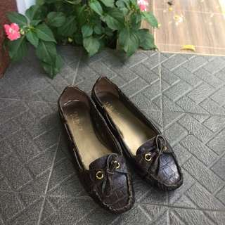 Talbots boat shoes leather