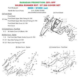 Ramadan Promo: FAIRINGS Complete for Gilera Runner RST/ST 200 (Up to 20% OFF)