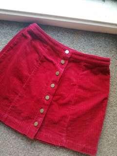 Forever21 Red corduroy Skirt