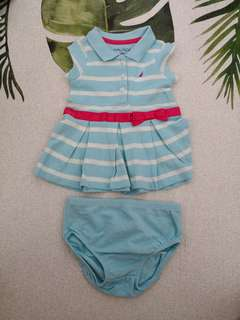 Brand New Nautica 100% Cotton Polo Dress (3 - 6 months)
