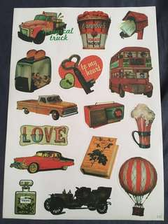 Vintage decoration stickers