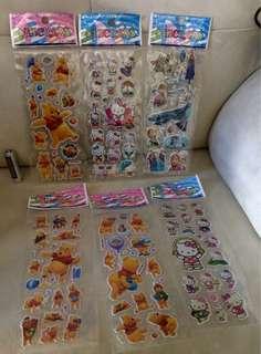 平賣 卡通貼紙 全新 散賣 每張計