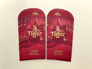 6pcs Tiger 2018 red packet / ang pow pao