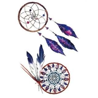 Temporary Tattoo (Purple Dream Catcher)