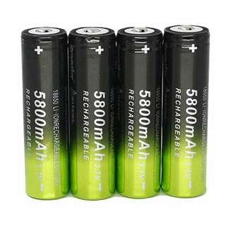 5800mAh Li-ion 3.7v18650 rechargeable battery