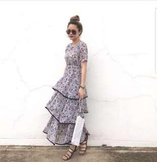 Vintage Midi layered Dress