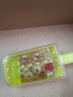 手工針式耳環(含收納盒)