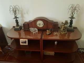 2 tables sgd 200/- Antique clock needing repair sgd200/- however needing repair