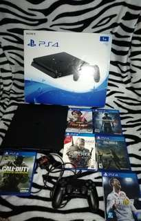 RUSH!!! PS4 SLIM 1TB + 6 GAMES INCLUDED