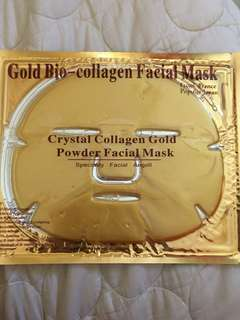 Gold premium collagen facial face mask