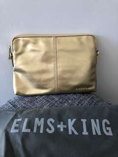 Elms & King - Gold Metallic Bowery Wallet crossbody bag