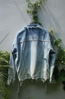 Custom Ombre Bleached Levis denim jacket